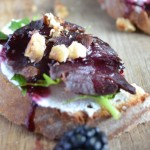 smoked grouse crostini