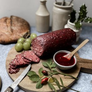Small Green Pepper Venison Salami